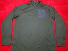 NORTH FACE Mens Green Textured 1/4 1/2 Zip Long Sleeve Mock Pullover Shirt L
