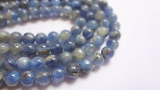 6mm Round Natural Kyanite Semi Precious Gemstone Beads - Half Strand