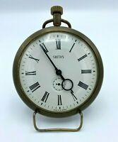 Smiths Small Clock with Metal Stand, Roman Numerals, Gold Tone, Made in Britain