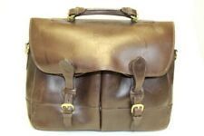 Mulholland (Stand Against MS) Large Brown Leather Business Briefcase Attache Bag