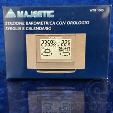►MAJESTIC WTB1005 ◄ STAZIONE METEO MAJESTIC WTB CON OROLOGIO / SVEGLIA NEW