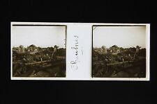 Chaulnes La Somme France Photo Plaque stéréo 45x107mm WW1 1918