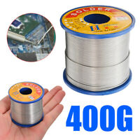 400g 60/40 Tin lead Solder Wire Rosin Core Soldering Roll 2% Flux Reel 1.0mm