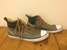 CONVERSE ALLSTAR LEATHER UNISEX ANKLE SHOES SIZE M 11.5 W 13.5 GRAY