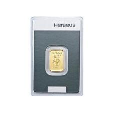 5 Gramm Goldbarren Heraeus Gold 999,9 Feingold Barren