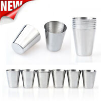 New 6pcs Stainless Steel Cup Drinking Coffee Tea Tumbler Camping Mug Glasses
