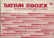 DATSUN 280 ZX Betriebsanleitung 1978  Bedienungsanleitung Handbuch Bordbuch  BA