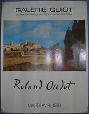 1979 Paris - Roland Oudot - vintage exhibition poster - affiche exposition d'aet