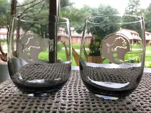 LOT: Detroit Lions, NFL, Vintage Smoked Glasses Tumbles Rock Glasses