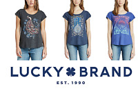 NEW Lucky Brand Women's Graphic Tee VARIETY Short Sleeve NEW PATTERNS & E52