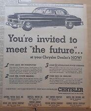 1951 newspaper ad for Chrysler - New Yorker, 180 H.P., Power Brakes & Steering