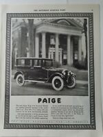 1922 Paige Series 6-66 enclosed model car vintage original ad