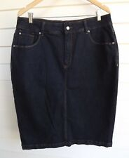 My Size Women's Blue Stretch Jean Skirt - Size 16