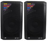 """(2) Peavey DM 112 12"""" 1000W Painted Wood Active Powered PA Speakers+Digital DSP"""