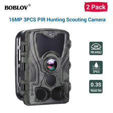 2 Pack HC801A 16MP 1080P Hunting Trail Scouting Night Vision Camera Home Camera