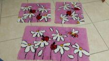 Tappeti bagno 3 pezzi Rosa