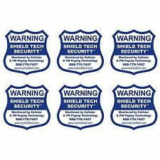 6 FRONT ADHESIVE WINDOW DECALS -WARNING STICKER ALARM SECURITY SYSTEM PK A