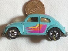 "TOY CAR HOT WHEELS 1988 MATTEL INC. MALAYSIA VOLKSWAGEN  2 ½"" x 1 1/8""  aqua."