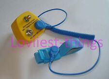 ESD Antiestática Tierra Bonding enchufe 10mm X2 Tachas +1 X M5 Post del Reino Unido Cable & Strap Set
