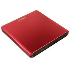 Pawtec External USB 3.0 Aluminum 8X DVD-RW Writer Drive with Lightscribe - Red