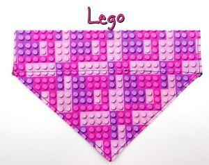 Lego Blocks Dog Bandana Over the Collar dog bandana Dog collar bandana pink toy