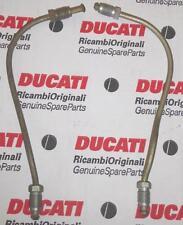Ducati 750 860 900 Brembo PAIR front brake hose steel lines 200mm length X 10mm