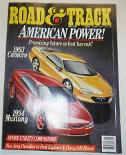 Road & Track Magazine 1993 Camaro & 1994 Mustang May 1992 NO ML 012115R