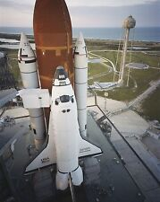 Space Shuttle Discovery on launch pad for first mission STS-41D Photo Print