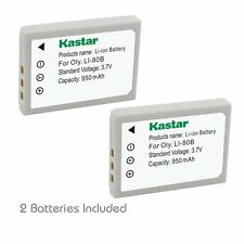 2x Kastar Battery for Olympus Li-80B T-100 T-110 X-36 X-960 KYOCERA EZ 4033