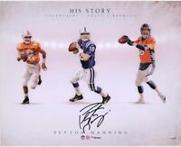 "Peyton Manning Tennessee/Broncos/Colts Signed 16"" x 20"" His Story Photo"