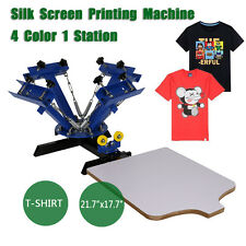 4 Color 1 Station Silk Screen Printing Press Pressing  Equipment DIY Machine