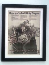 ROLLING STONES Albums 1977  *ORIGINAL *POSTER *AD *FRAMED* Advert