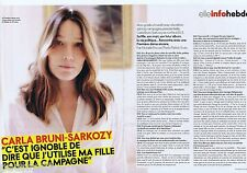COUPURE DE PRESSE CLIPPING 2012 Carla Bruni-Sarkozy (3 pages)