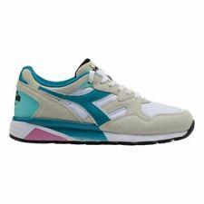 Diadora Sportswear N9002 Shoes, White/Teal, Retail $120