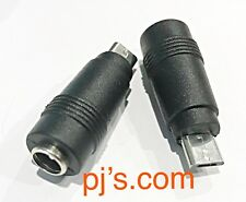 DC Power 5.5x2.1mm Female Converter to USB Micro 5P Male Adapter x 1pc