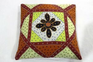 Indian Ethnic Handmade Cotton Cushion Covers Decorative Art Pillow Case MC08