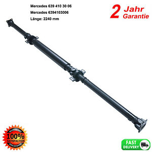 New Propshaft Driveshaft 2240mm for Mercedes-Benz Viano Vito Bus W639 6394103006