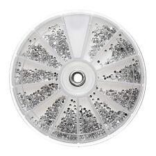 2400pcs Silver 2mm Nail Art Rhinestones Decoration Diamante Glitter Gem�ŒWheel