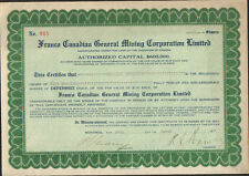 FRANCO CANADIAN General Mining Corp. Ltd (CANADA MONTREAL) (R)