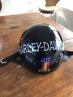 RARE early Harley Davidson  Medium helmet, nothing out there like it.