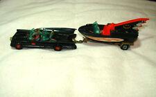 Vintage Diecast Corgi Batmobile, Glastron Batboat, Trailer, Toy Car 1st Edition