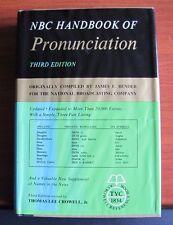 NBC Handbook of Pronunciation - James Bender, Crowell - 1964 HCDC 3rd Edition