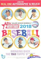 2018 Topps Heritage Baseball EXCLUSIVE Factory Sealed HANGER Box-Loaded!