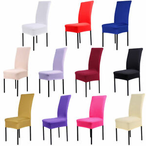 Stretch Spandex Dining Chair Covers Slipcovers Dining Room Banquet Party Décor