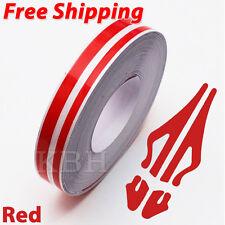 "12mm x 9.8m Pinstripe Double Pin Stripe 4mm 2mm Decal Vinyl Sticker Car 1/2"" Red"