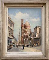 Straße in Kairo Hans Schmitt Rue de la Mosquee El-Azhar Moschee Ägypten 33 x 27
