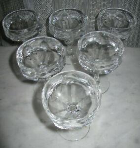 5 + 1 Stück Nachtmann Alexandra Likörglas Bleikristall 9,5 cm Nachlass