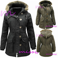 MILITARY PARKA GIRLS New JACKET COAT HOODED Padded CLOTHING AGE 7 9 10 11 12 13z