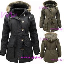 MILITARY PARKA GIRLS New JACKET COAT HOODED Padded CLOTHING AGE 7 9 10 11 12 13z