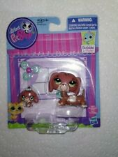 Littlest Pet Shop LPS Dachshund #3601  3602 Mom & Baby Weiner dogs New MOC